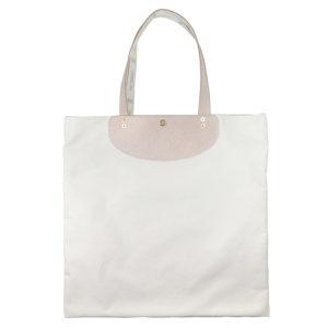 ユニバーサルシリーズの床革使用のトートバッグ無地(生成り)