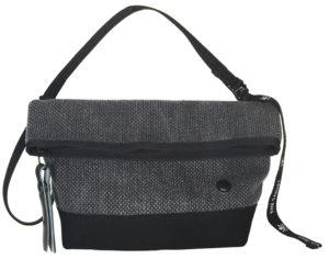 ザ・キャンヴェットのエコな梅炭染(和歌山)の刺子ミニショルダーバッグ