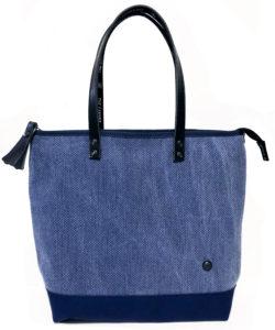 ザ・キャンヴェットのエコな梅炭染(和歌山)の刺子ミニトートバッグ
